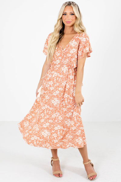 Women's Pink Cute and Comfortable Boutique Midi Dress