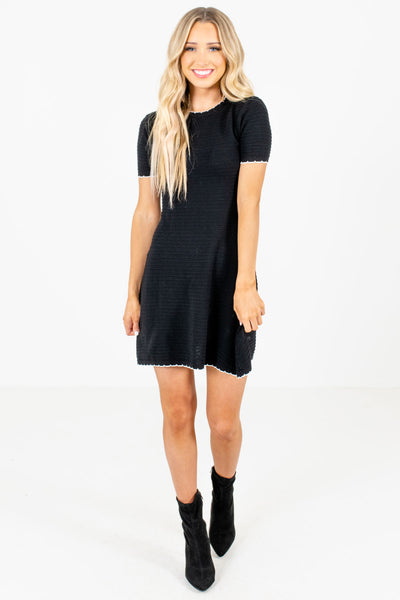 Pardon My French Black Mini Dress