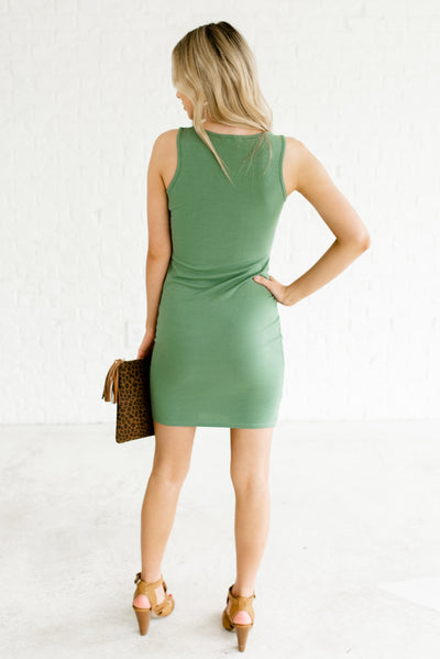 Green Women's Short Mini Length Boutique Dresses
