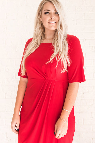 Red Affordable Online Boutique Plus Size Clothing for Women