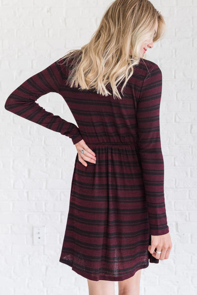Burgundy Red Winter Dresses and  Clothing for Women
