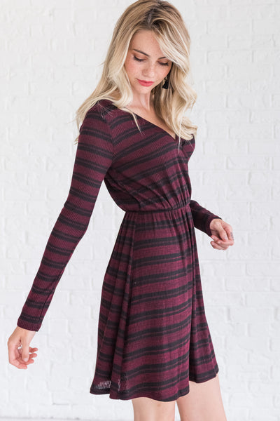 Burgundy Affordable Online Boutique Winter Clothing for Women