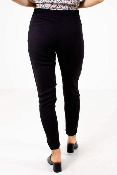 Women's Black Casual Boutique Joggers