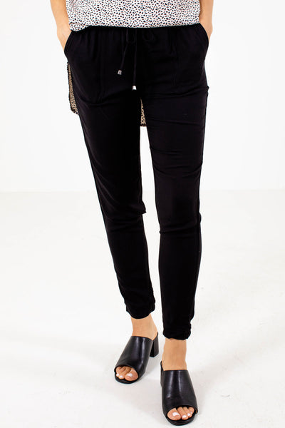Black Cute and Comfortable Boutique Joggers for Women