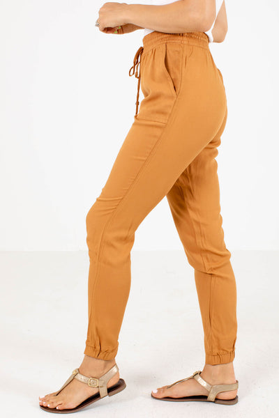 Women's Yellow Boutique Joggers with Pockets