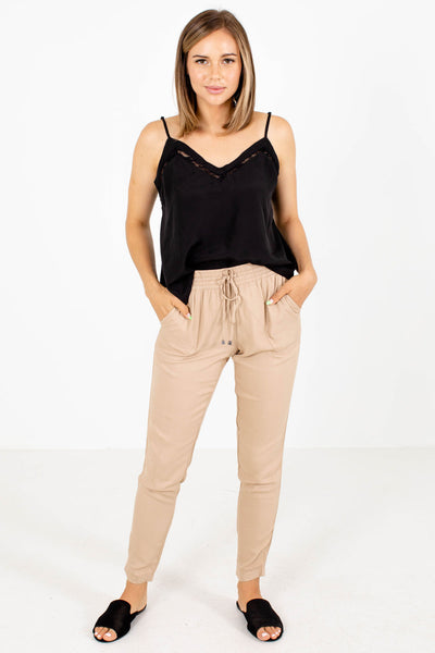 Women's Taupe Spring and Summertime Boutique Clothing