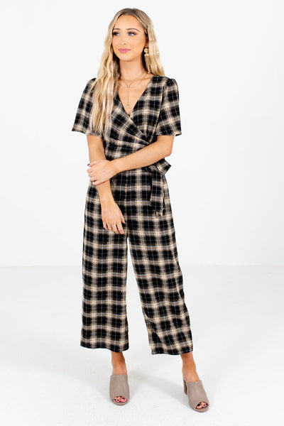 Women's Black Business Casual Boutique Jumpsuit