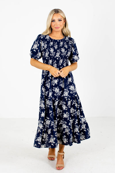 Navy Midi Dress Boutique Clothing for Women