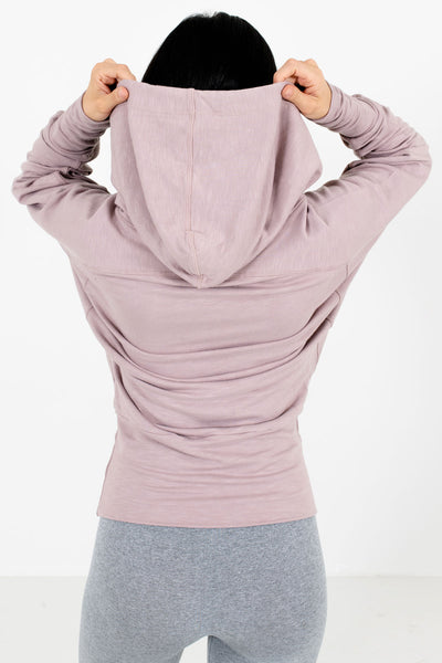 Women's Blush Pink High-Quality Soft Boutique Active Hoodie