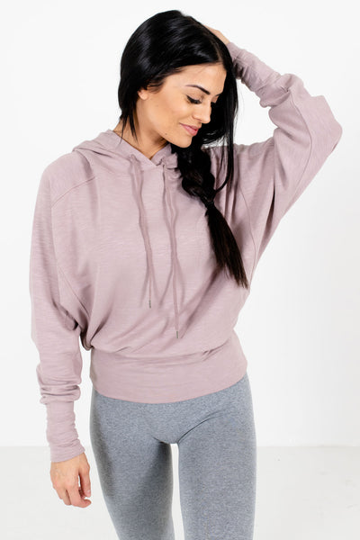 Blush Pink Cute and Comfortable Boutique Activewear Hoodies for Women