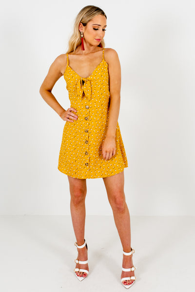 Women's Mustard Yellow Spring and Summertime Boutique Clothing
