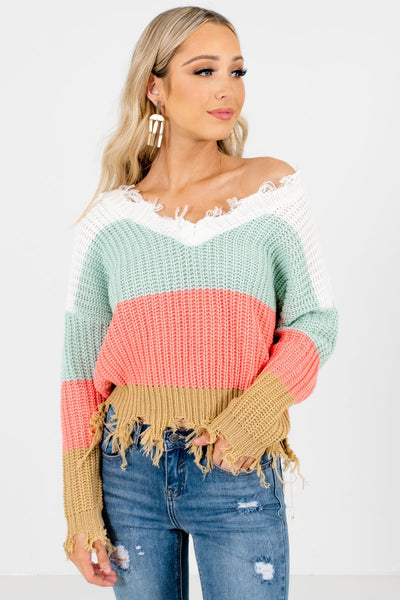 Mint Green Cute and Comfortable Boutique Sweaters for Women