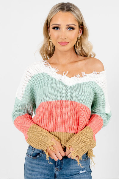 Women's Mint Green Fall and Winter Boutique Clothing