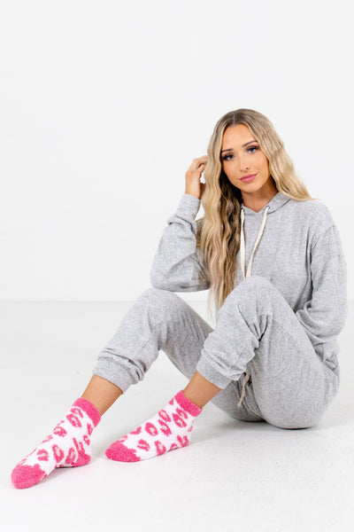Women's Pink Cozy and Warm Boutique Socks