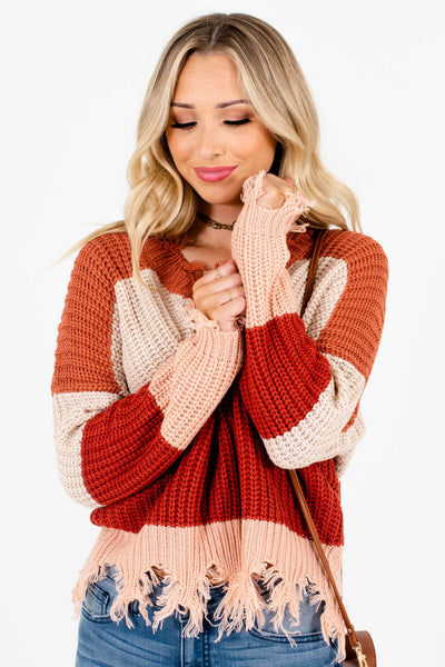 Rust Orange Cute and Comfortable Boutique Sweaters for Women