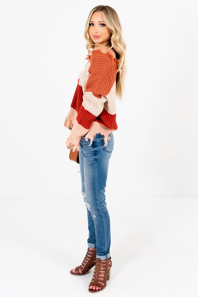 Women's Rust Orange Cozy and Warm Boutique Sweater