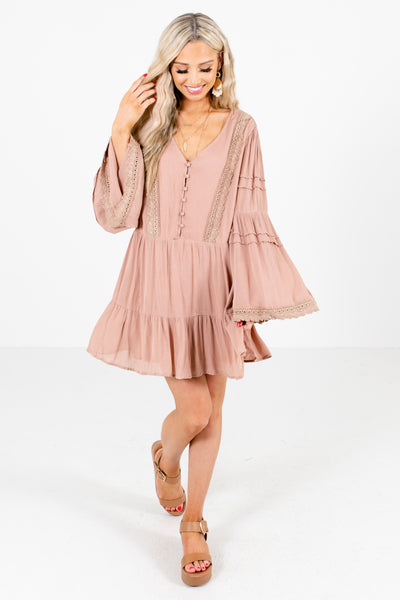 Pink Cute and Comfortable Boutique Mini Dresses for Women