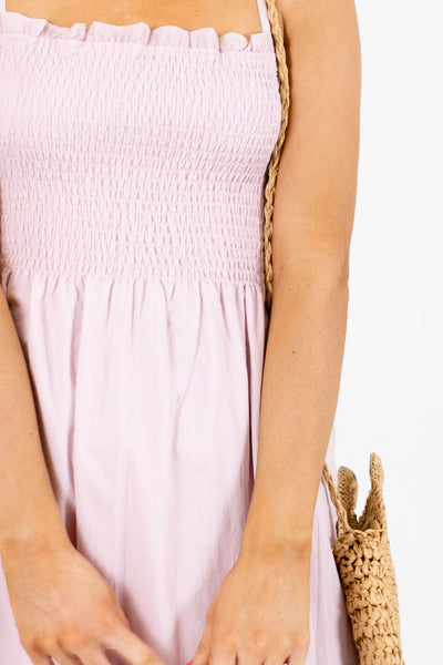 Pink Cute and Comfortable Boutique Midi Dresses for Women