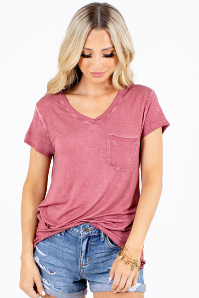 Brick Red Affordable Online Boutique Clothing for Women