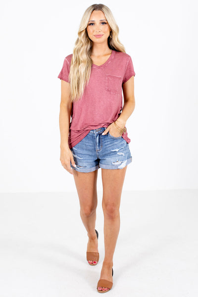Women's Brick Red Cute and Comfortable Boutique Tee