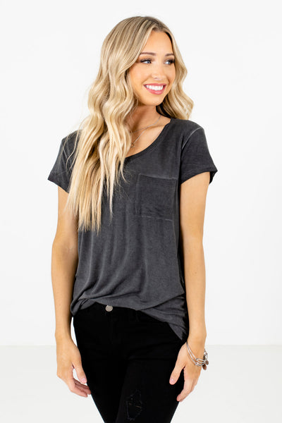 Women's Charcoal Gray Layering Boutique T-Shirts