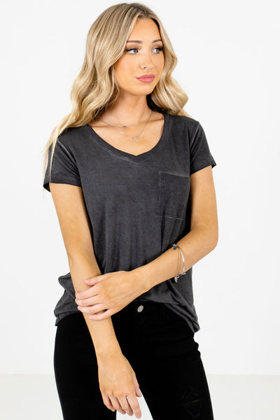 Charcoal Gray Cute and Comfortable Boutique Tees for Women