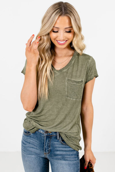 Women's Green Layering Boutique T-Shirts