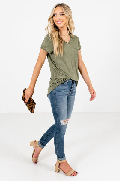 Green Cute and Comfortable Boutique Tees for Women