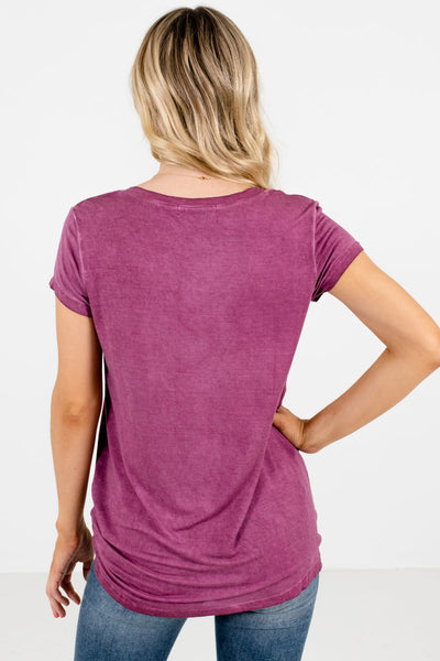 Women's Purple V-Neckline Boutique Tee