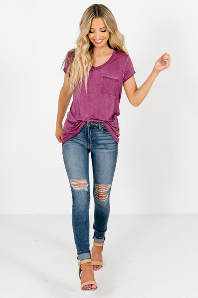 Purple Cute and Comfortable Boutique Tees for Women