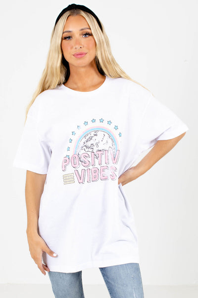 Women's White Cute and Comfortable Boutique Tee