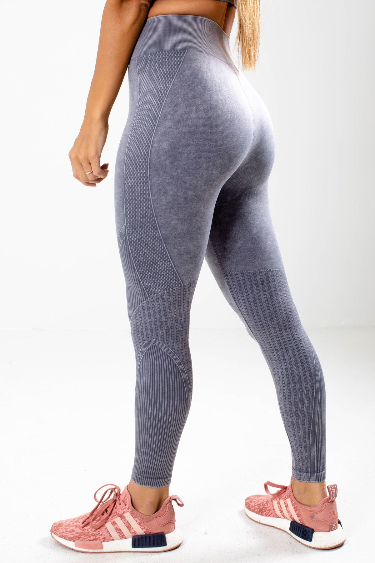 Gray High Waisted Boutique Active Leggings for Women