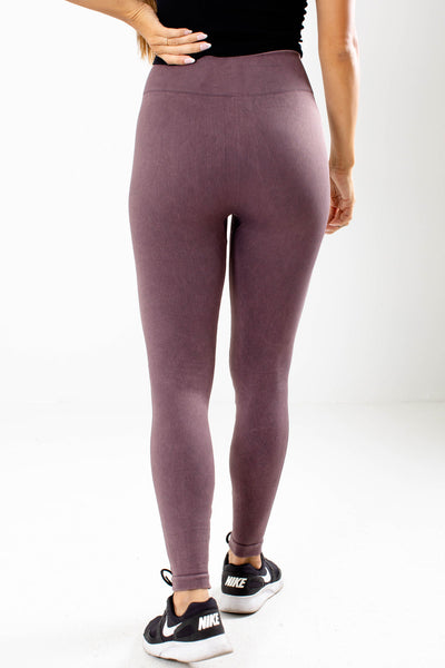 Women's Purple Stretchy Boutique Active Leggings