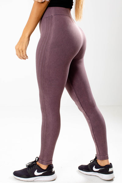 Women's Purple One Size Boutique Active Leggings