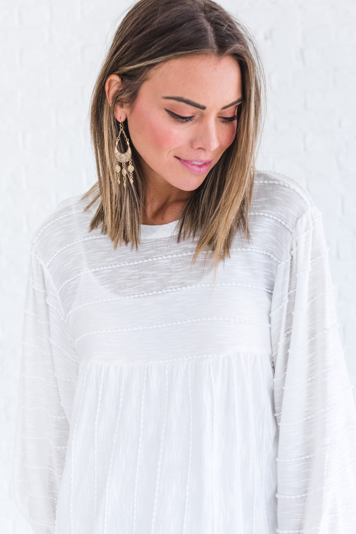 Promise Me Cream Textured Top