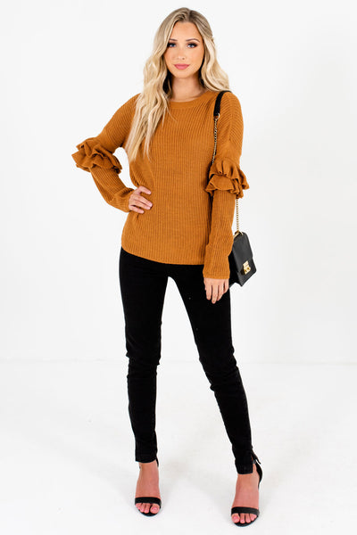Orange Cute and Comfortable Boutique Sweaters for Women