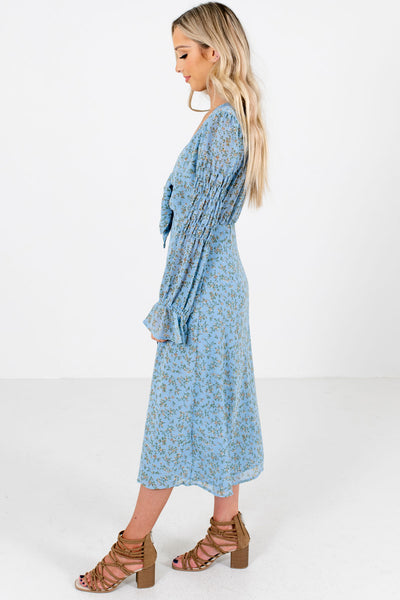 Women's Blue Spring and Summer Boutique Midi Dresses