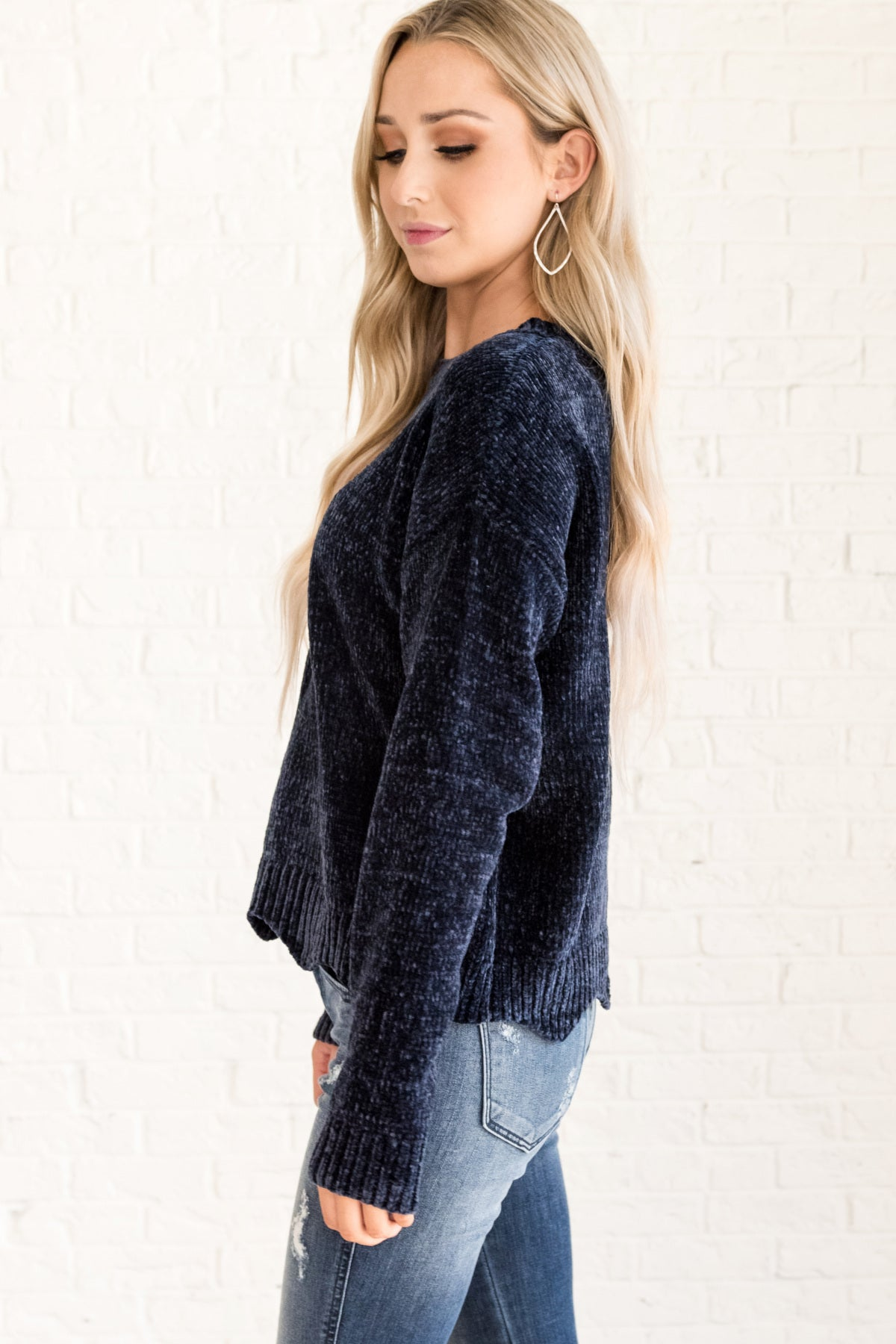Pure Bliss Navy Sweater