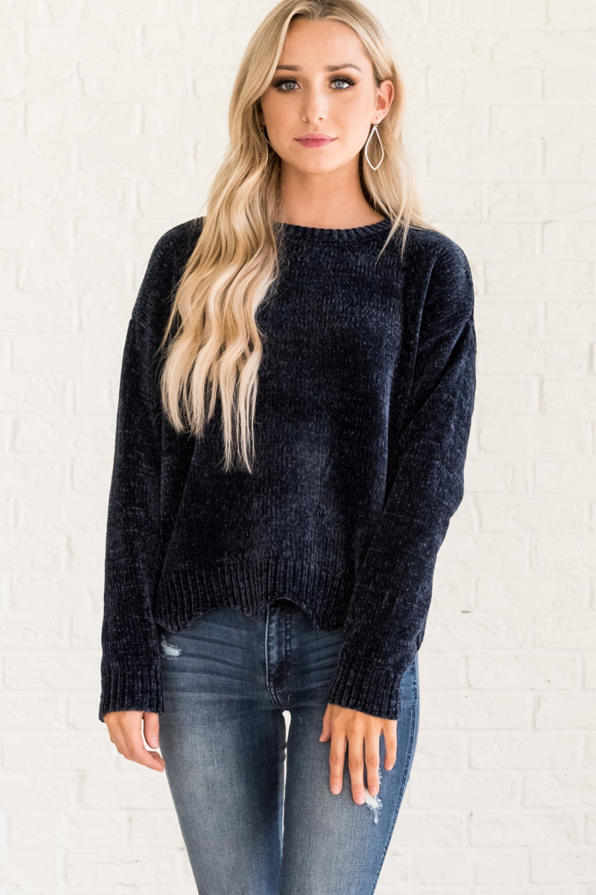 182414ef2 Pure Bliss Navy Sweater