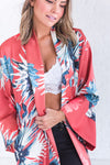 boutique kimono with floor length hem