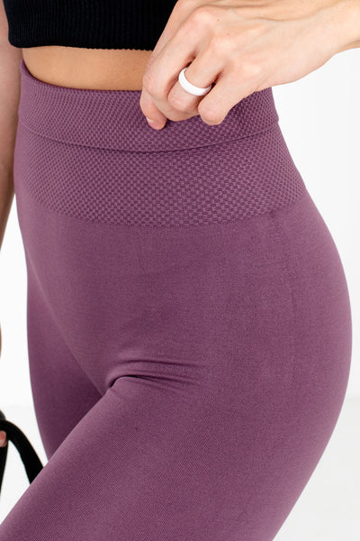 Purple Workout Exercise Boutique Leggings for Women