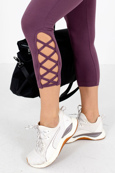 Purple Affordable Online Boutique Workout Clothing for Women