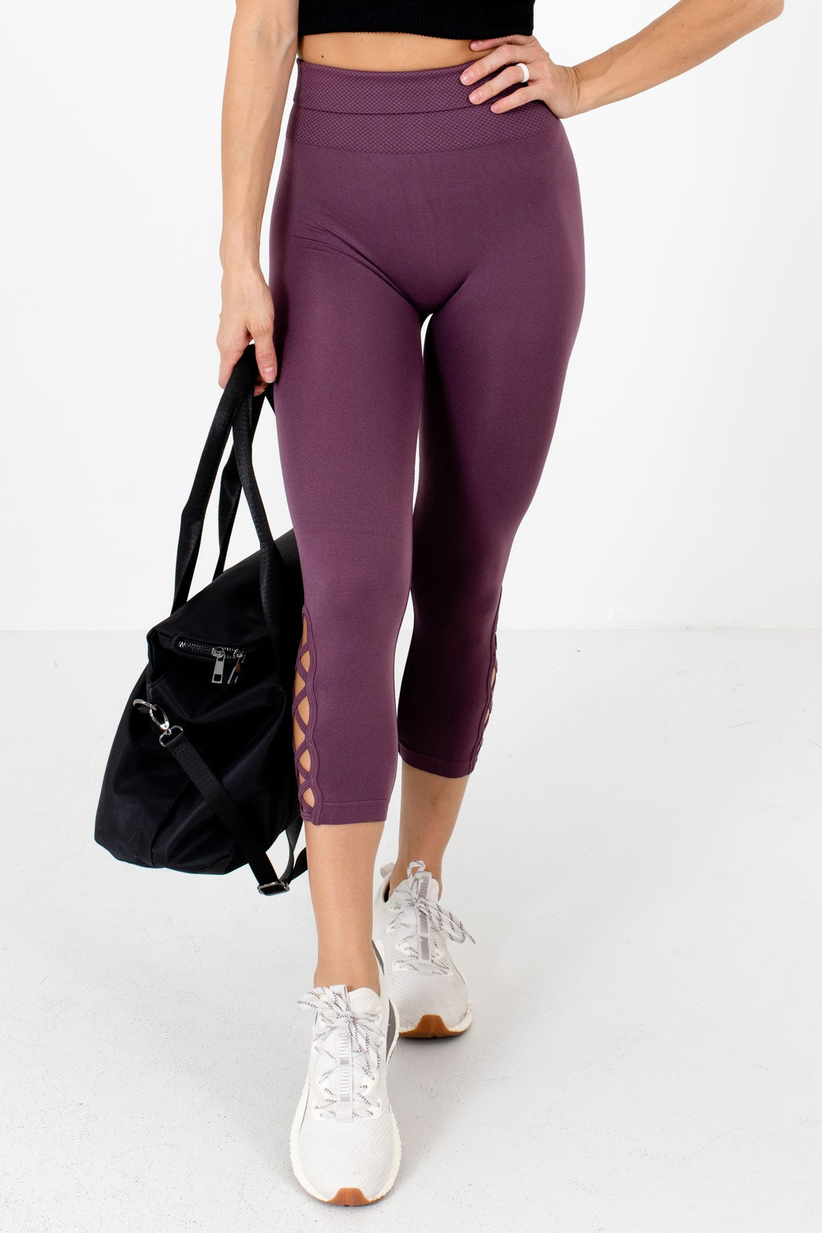 Purple High Waisted Style Boutique Active Leggings for Women