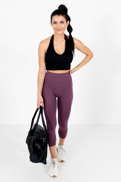 Women's Purple Cute and Comfortable Boutique Active Leggings