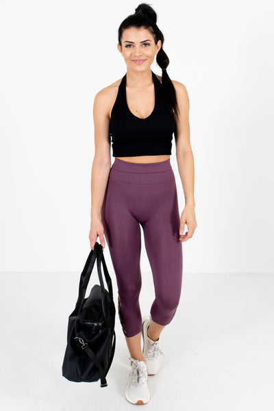 Purple High-Quality Stretchy Boutique Active Leggings for Women