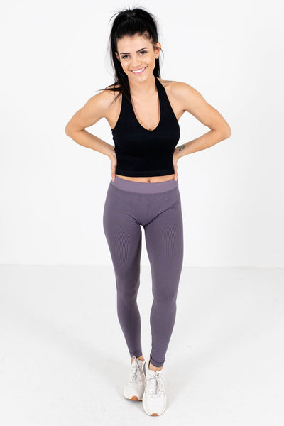 Women's Casual Everyday Boutique Purple Active Leggings