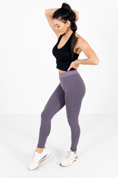 Purple High-Waisted Style Boutique Active Leggings for Women