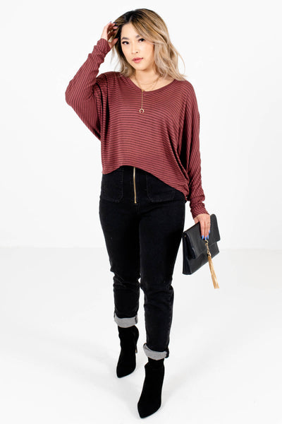 Women's Mauve Long Sleeve Boutique Tops