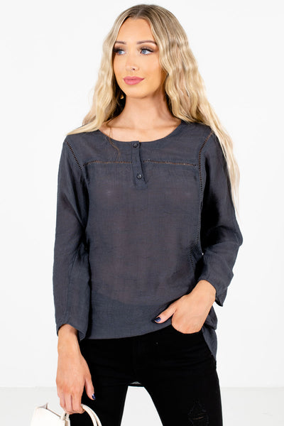 Women's Charcoal Gray Casual Everyday Boutique Clothing