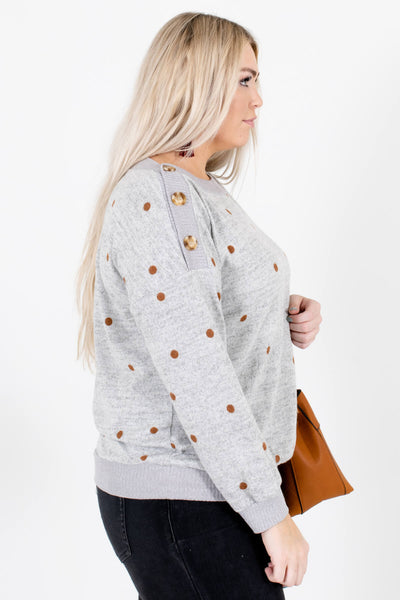 Heather Gray Long Sleeve Boutique Sweaters for Women